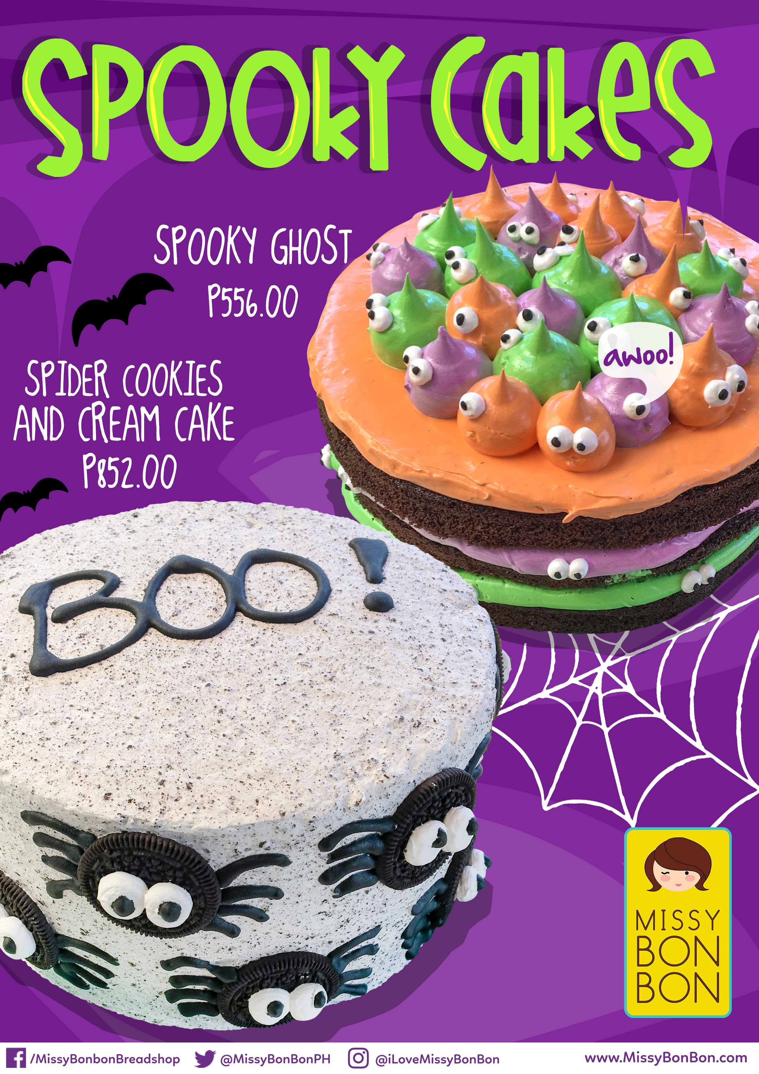 JPG Halloween Cakes A4 Standee